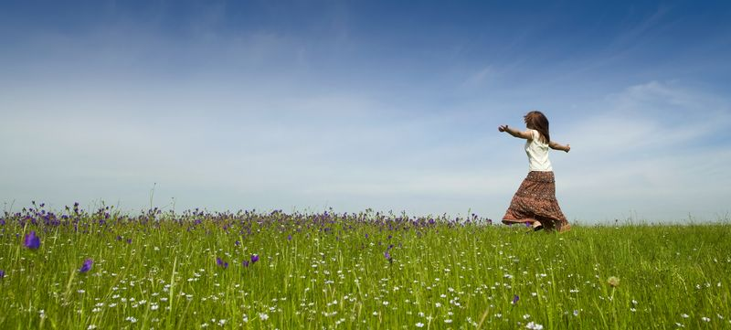 woman dancing in field case study
