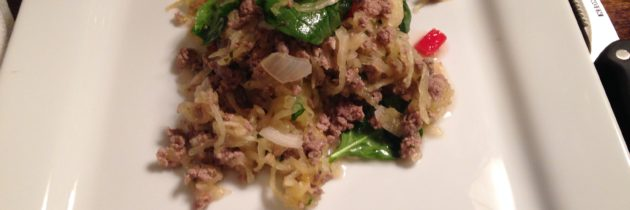 Spaghetti Squash with Lamb